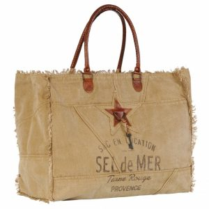 Beach bag Sel de Mer brown - medium
