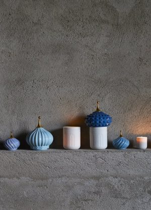 Lladró scented candle 1001 Lights Blue Spire