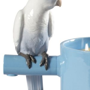 Lladró candle Parrots Scented Treasure Blue