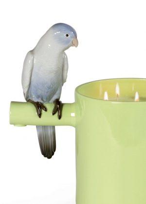 Lladró candle Parrots Scented Treasure Green