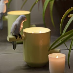 Lladró candle Parrots Scented Treasure Green
