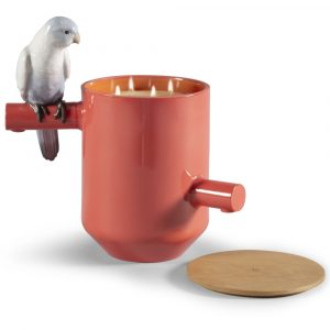 Lladró candle Parrots Scented Treasure Red