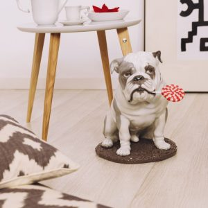 Lladró dog sculpture Bulldog with Lollipop