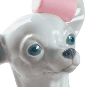Lladró dog sculpture Chihuahua with Marshmallows