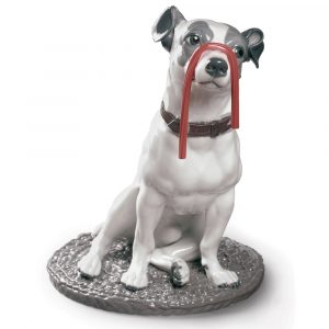 Lladró dog sculpture Jack Russel with Licorice