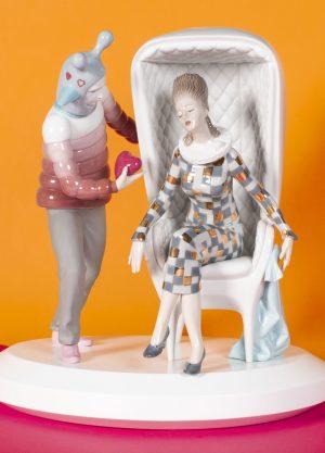 Lladró sculpture The Love Explosion Couple