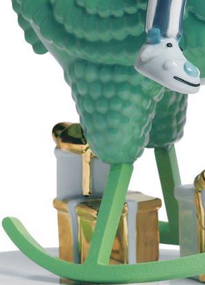 Lladró sculpture The Rocking Chicken Ride
