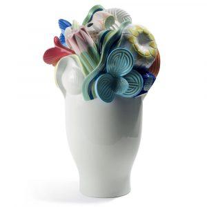 Lladró large vase Naturofantastic multicolor