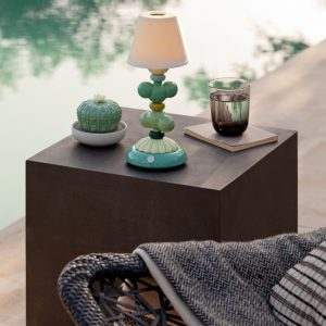 Lladró table lamp Cactus Firefly green