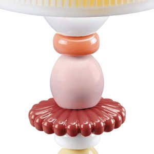 Lladró table lamp Lotus Firefly coral