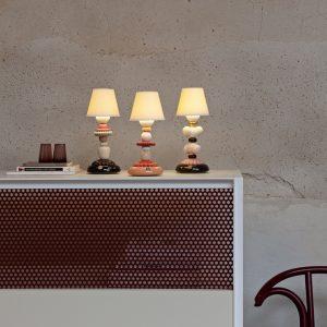 Lladró table lamp Sunflower Firefly black