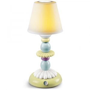 Lladró table lamp Lotus Firefly green-blue