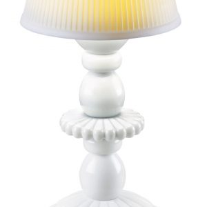 Lladró table lamp Lotus Firefly white