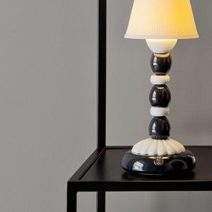 Lladró table lamp Palm Firefly black-white
