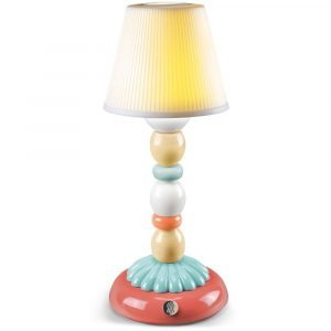 Lladró table lamp Palm Firefly pale blue