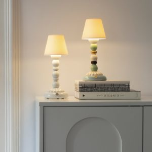 Lladró table lamp Palm Firefly white