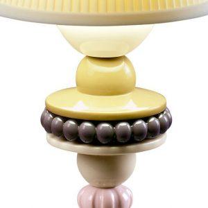 Lladró table lamp Sunflower Firefly blue