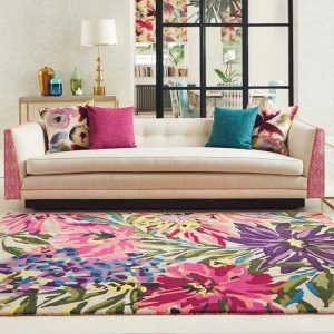 Harlequin rug Floreale Fuschia