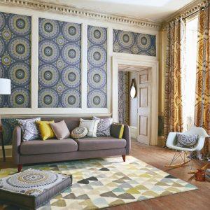 Harlequin rug Lulu green