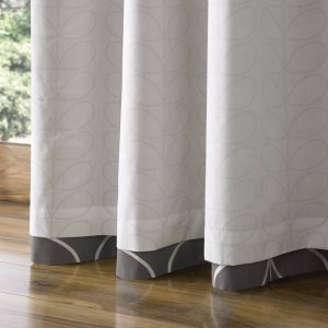 Orla Kiely ready-made curtains Linear Stem Charcoal