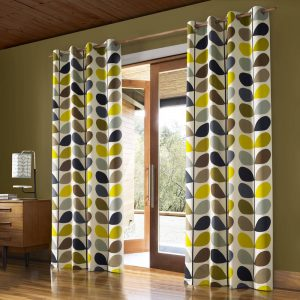 Orla Kiely ready-made curtains Multi Stem Duck Egg