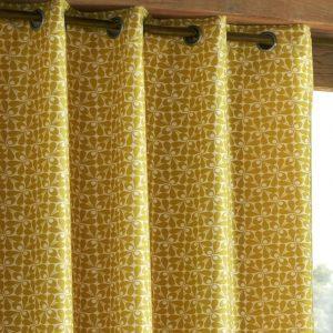 Orla Kiely ready-made curtains Woven Acorn Cup Dandelion
