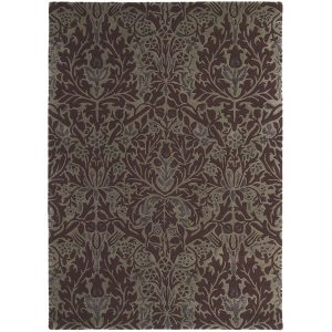 Morris & Co rug Autumn Flowers Plum