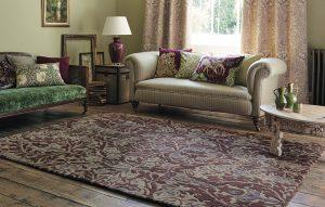Morris & Co rug Autumn Flowers Plum