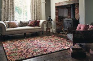 Morris & Co rug Granada red-black