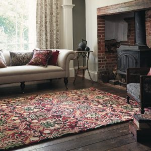 Morris & Co rug Granada red-black