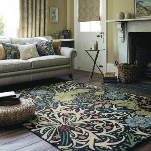 Morris & Co rug Seaweed Ink