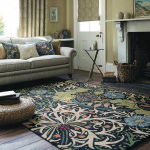 Morris & Co rug Seaweed Ink