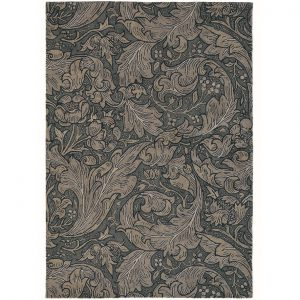 Morris & Co rug Bachelors Button Charcoal