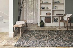 Morris & Co rug Bachelors Button Charcoal