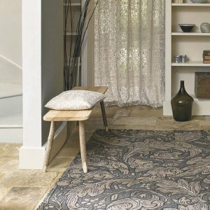 Morris & Co rug Bachelors Button Linen