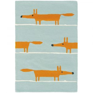 Scion rug Mr Fox Aqua