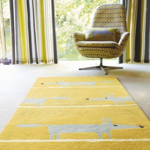 Scion rug Mr Fox Mustard