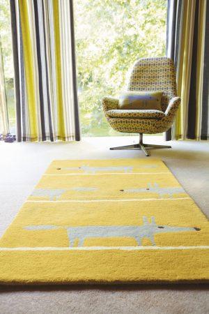 Scion rug Mr Fox Mustard
