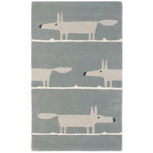 Scion rug Mr Fox Silver