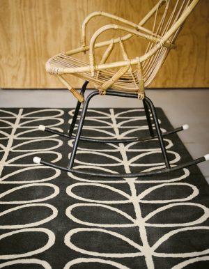 Orla Kiely rug Linear Stem Slate