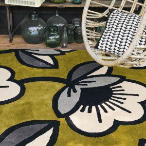 Orla Kiely rug Passion Flower Olive