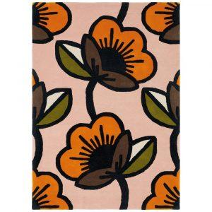 Orla Kiely rug Passion Flower Pink