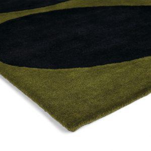 Orla Kiely rug Stem Black