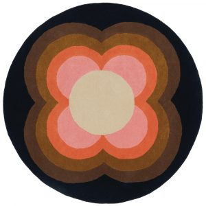 Orla Kiely rug Sunflower Pink