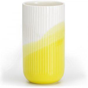 Vitra ribbed vase Herringbone Yellow