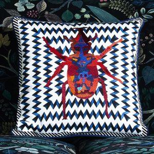 Christian Larcroix cushion Beetle Waves Oeillet