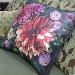 Designers Guild cushion Dahlia Noir Fuchsia