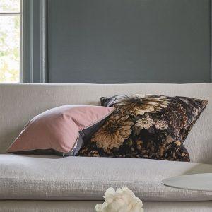 Designers Guild cushion Dahlia Noir Slate