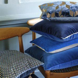 Designers Guild cushion Fitzrovia Cerulean