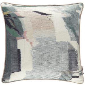 Harlequin cushion Perspective Emerald-Peony